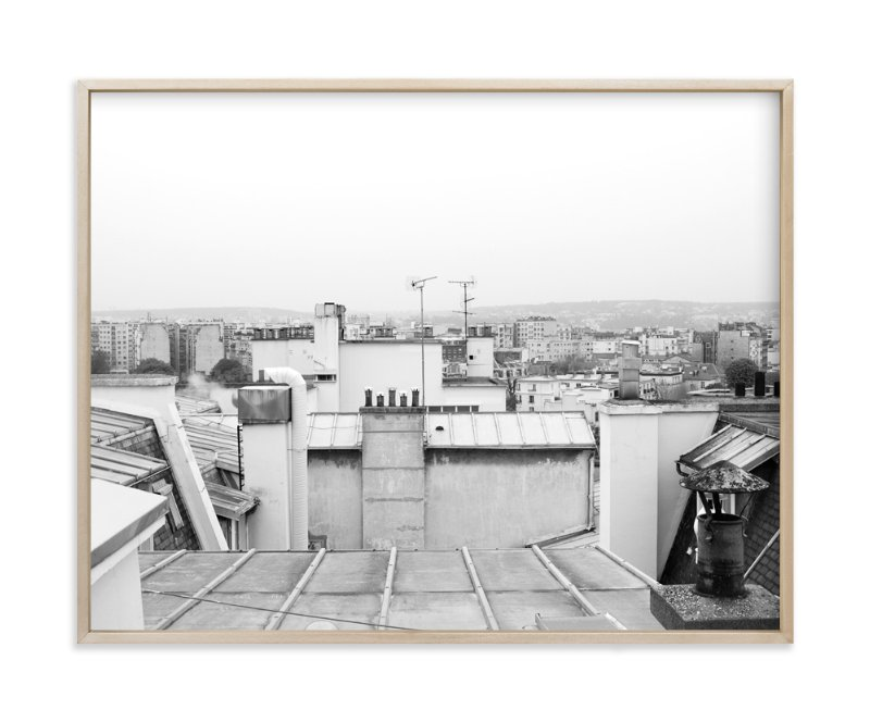 """""""Corbusier Roof"""" - Art Print by Krissy Bengtson in beautiful frame options and a variety of sizes."""