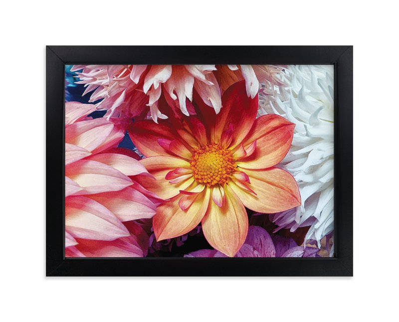 """""""Dahlia Mix II"""" - Art Print by A MAZ Design in beautiful frame options and a variety of sizes."""