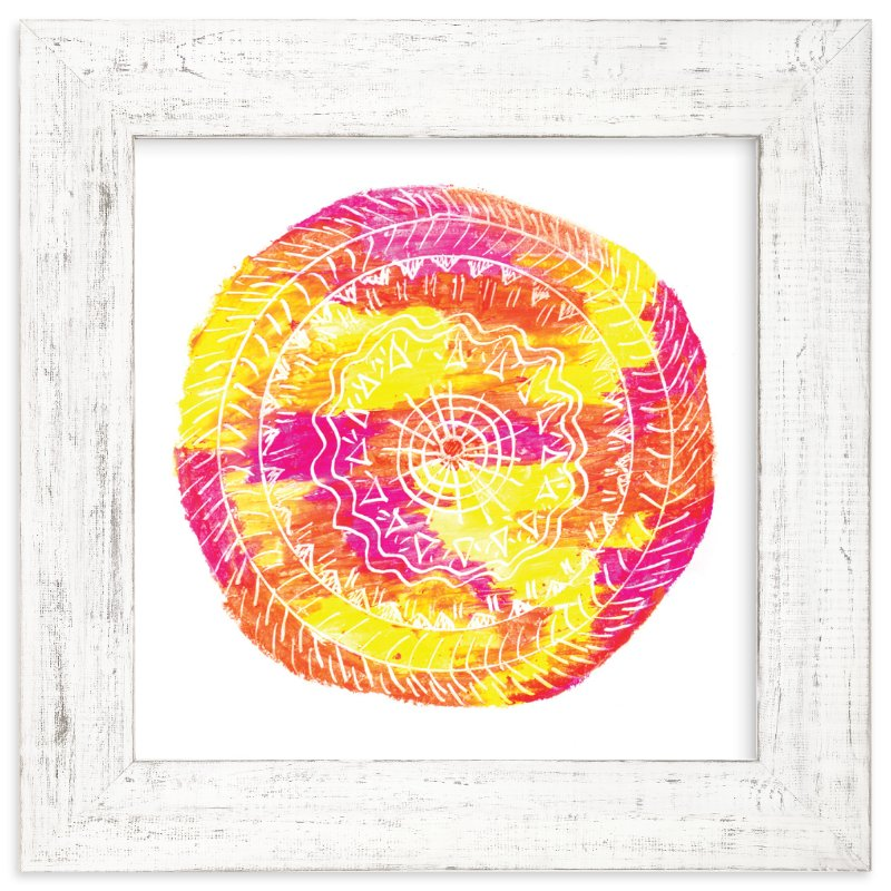 """Sun-Fire"" - Art Print by Kanika Mathur in beautiful frame options and a variety of sizes."