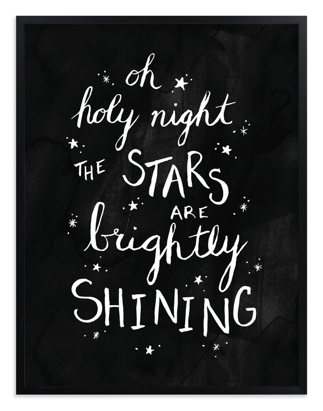 """Oh Holy Night Ink"" - Art Print by Janelle Wourms in beautiful frame options and a variety of sizes."