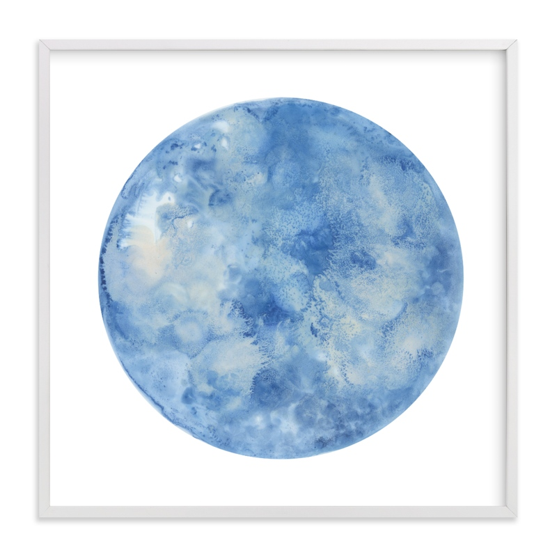 """""""Blue Moon"""" - Art Print by Emily Magone in beautiful frame options and a variety of sizes."""