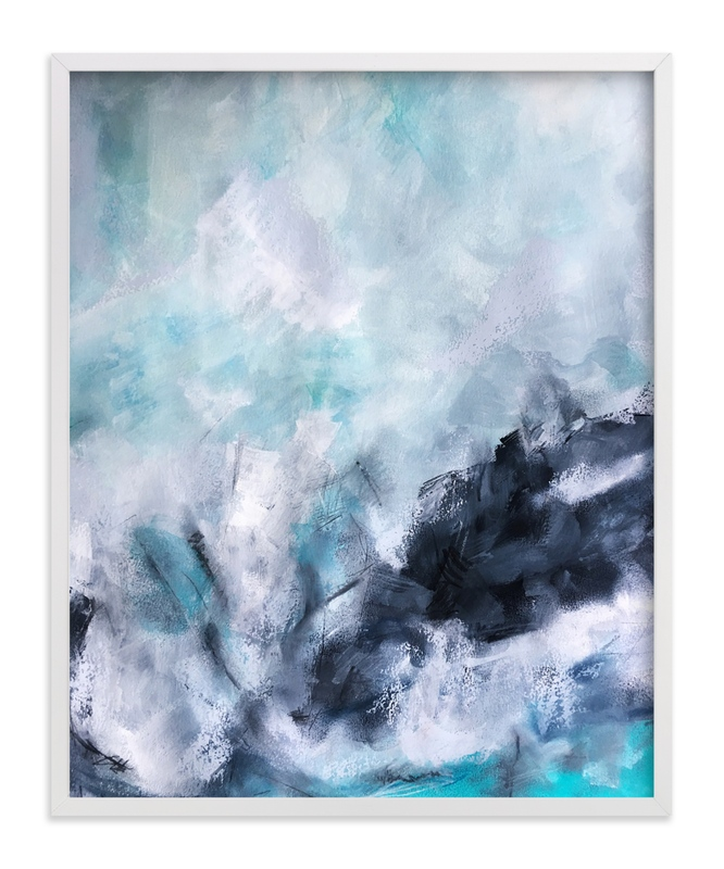 """""""Wave Form Abstract"""" - Art Print by Melanie Biehle in beautiful frame options and a variety of sizes."""