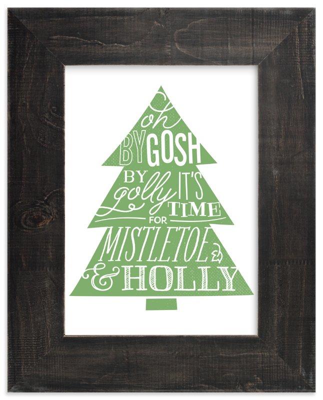 Mistletoe & Holly Art Print
