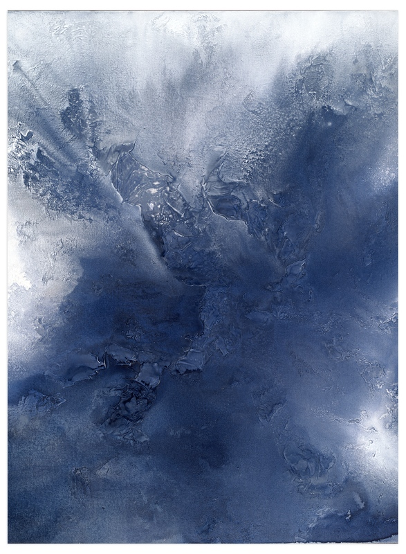 """""""indigo exhale!"""" - Art Print by Teodora Guererra in beautiful frame options and a variety of sizes."""