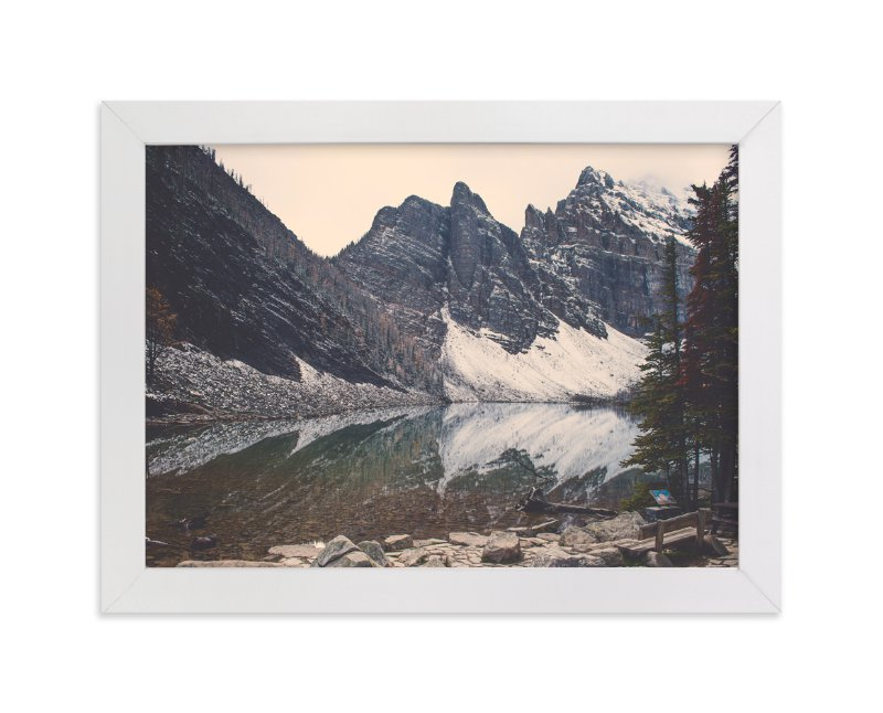 """""""Lake Agnes"""" - Art Print by Korry Brown in beautiful frame options and a variety of sizes."""