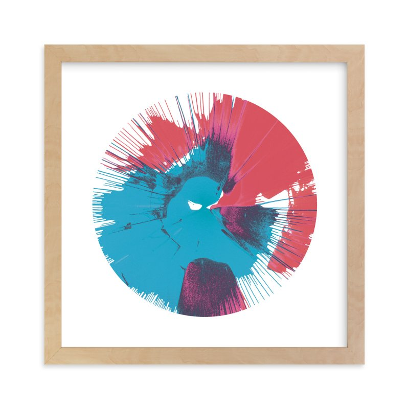 """""""Abstract Spin Art in Rocket Pop"""" - Art Print by Lauren Webster in beautiful frame options and a variety of sizes."""