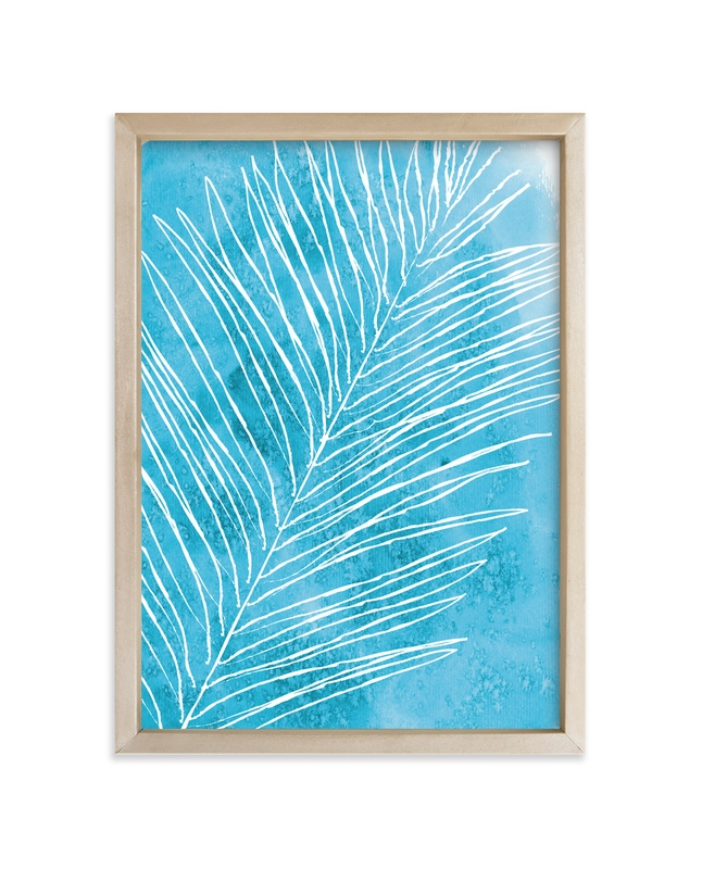 """""""Fern Fossil"""" - Art Print by Lindsay Megahed in beautiful frame options and a variety of sizes."""