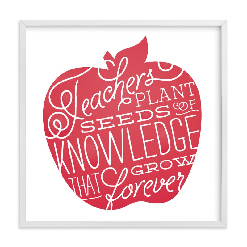 """""""Seeds of Knowledge"""" - Art Print by Jessie Steury in beautiful frame options and a variety of sizes."""