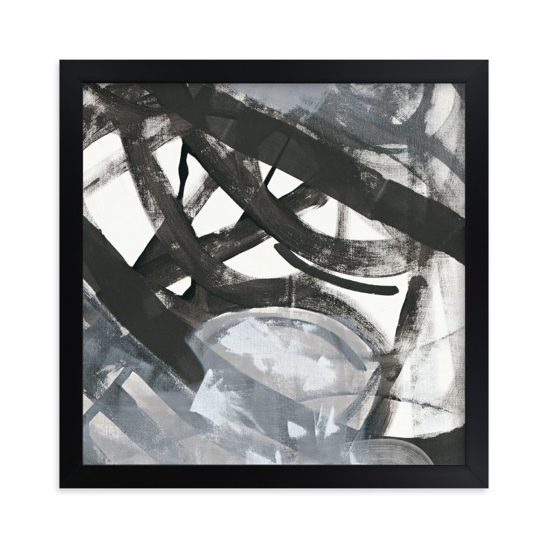 """""""White and Black Vapor 2 Series 4"""" - Art Print by Angela Simeone in beautiful frame options and a variety of sizes."""