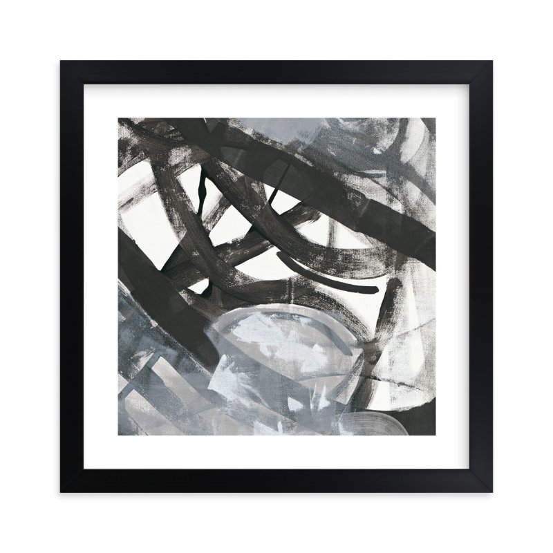 """White and Black Vapor 2 Series 4"" - Art Print by Angela Simeone in beautiful frame options and a variety of sizes."