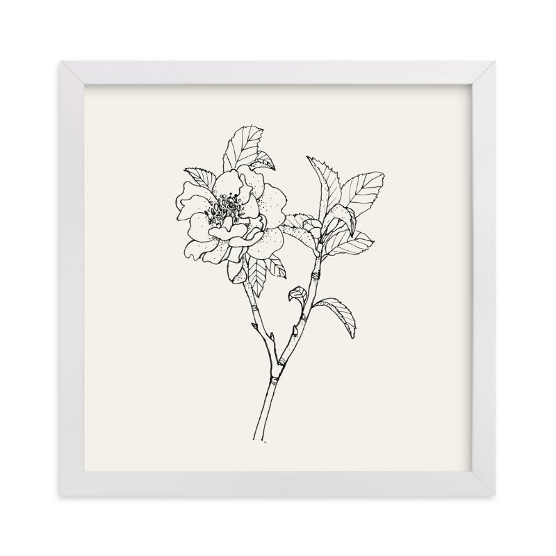 """""""GS Garden NO. 1a - Pink Camellia"""" - Art Print by Qing Ji in beautiful frame options and a variety of sizes."""