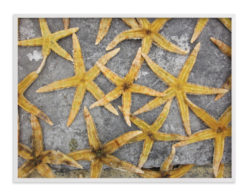 """""""sea stars"""" - Art Print by Julie Hebert in beautiful frame options and a variety of sizes."""