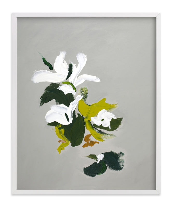 """""""Abstract Botanical Modern Art"""" - Art Print by Caryn Owen in beautiful frame options and a variety of sizes."""