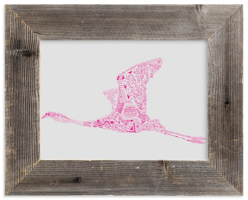 """Fuchsia Flamingo"" - Art Print by Kanika Mathur in beautiful frame options and a variety of sizes."