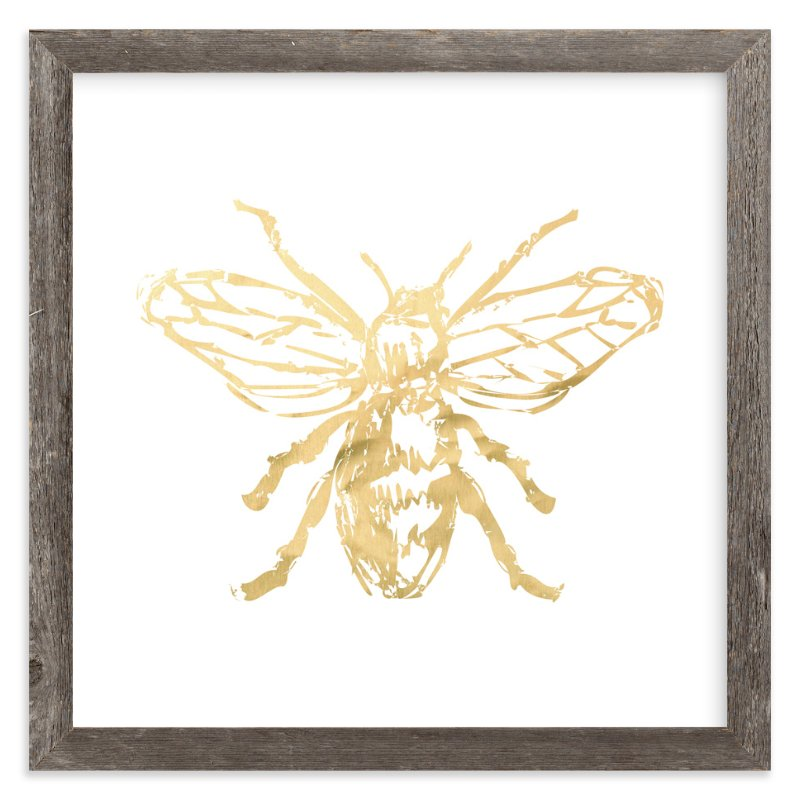 """Free to Bee Me"" - Art Print by rose lindo in beautiful frame options and a variety of sizes."