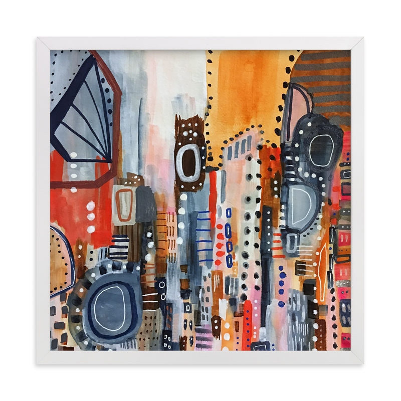 """""""Lost in Translation Abstract"""" - Art Print by Melanie Biehle in beautiful frame options and a variety of sizes."""