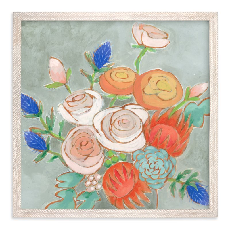 """A Bouquet for Kaitlin"" - Art Print by Jennifer Allevato in beautiful frame options and a variety of sizes."