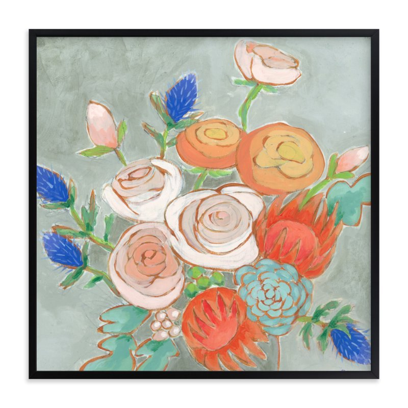 """""""A Bouquet for Kaitlin"""" - Art Print by Jennifer Allevato in beautiful frame options and a variety of sizes."""
