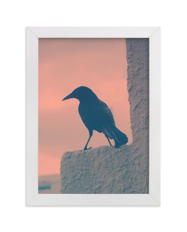 Blackbird Art Print By Gray Star Design In Beautiful Frame Options And A