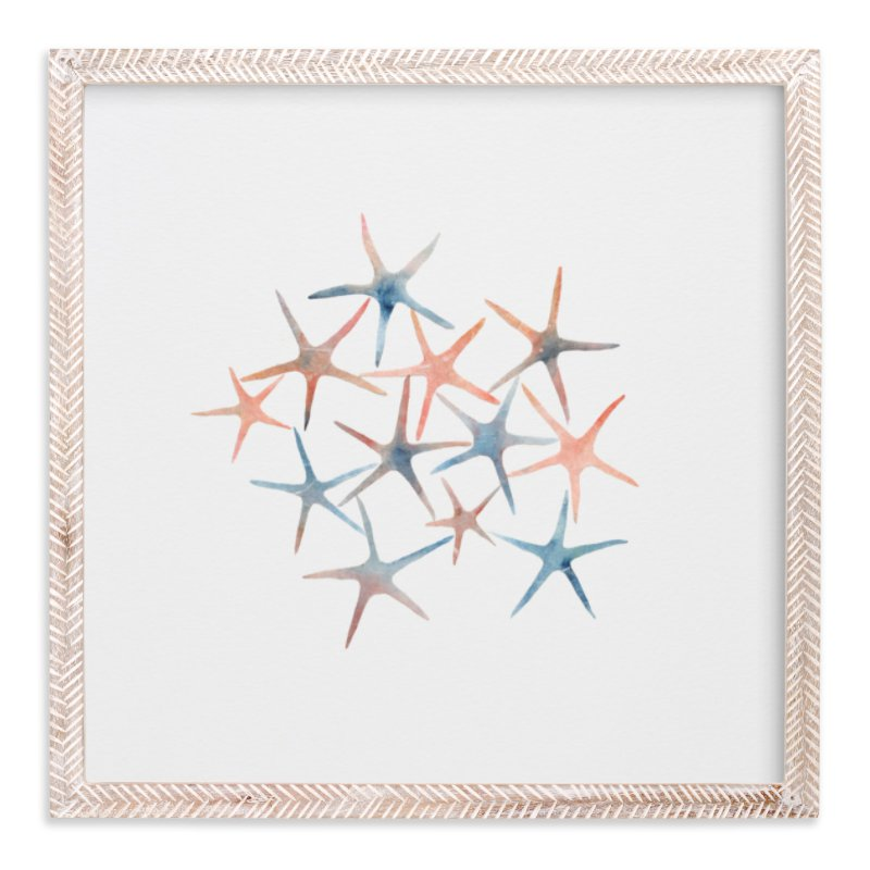 """""""Seastars"""" - Art Print by Mia Posada in beautiful frame options and a variety of sizes."""