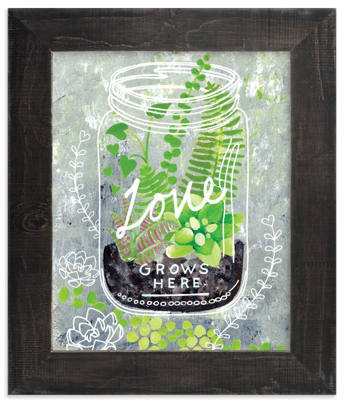 """""""'Love Grows Here'"""" - Art Print by Ming Platt in beautiful frame options and a variety of sizes."""