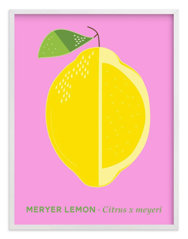 """Bold Lemon Print"" - Art Print by Gaucho Works in beautiful frame options and a variety of sizes."