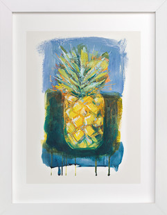 Painterly Pineapple  Art Print