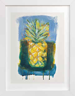 Painterly Pineapple  Art Print