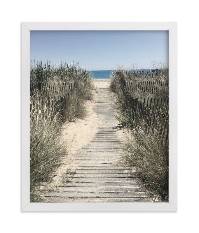 """""""Grassy Beach"""" - Art Print by Michelle Jean in beautiful frame options and a variety of sizes."""