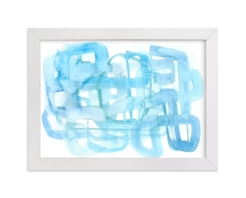 """""""Blue Watercolor Wash"""" - Art Print by Kim Johnson in beautiful frame options and a variety of sizes."""