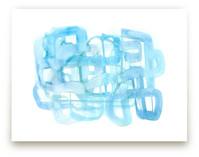 Blue Watercolor Wash