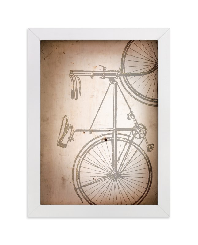 """Rusted Bike"" - Art Print by Erin Niehenke in beautiful frame options and a variety of sizes."