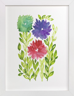 hand painted flowers_1N  Art Print