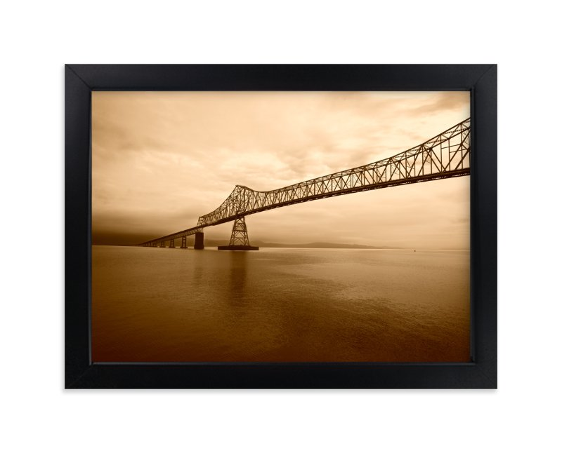 """Astoria-Megler Bridge"" - Art Print by Michelee Scott in beautiful frame options and a variety of sizes."