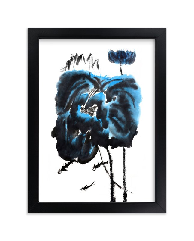 """""""Blue Lillies"""" - Art Print by Stuart Heir in beautiful frame options and a variety of sizes."""