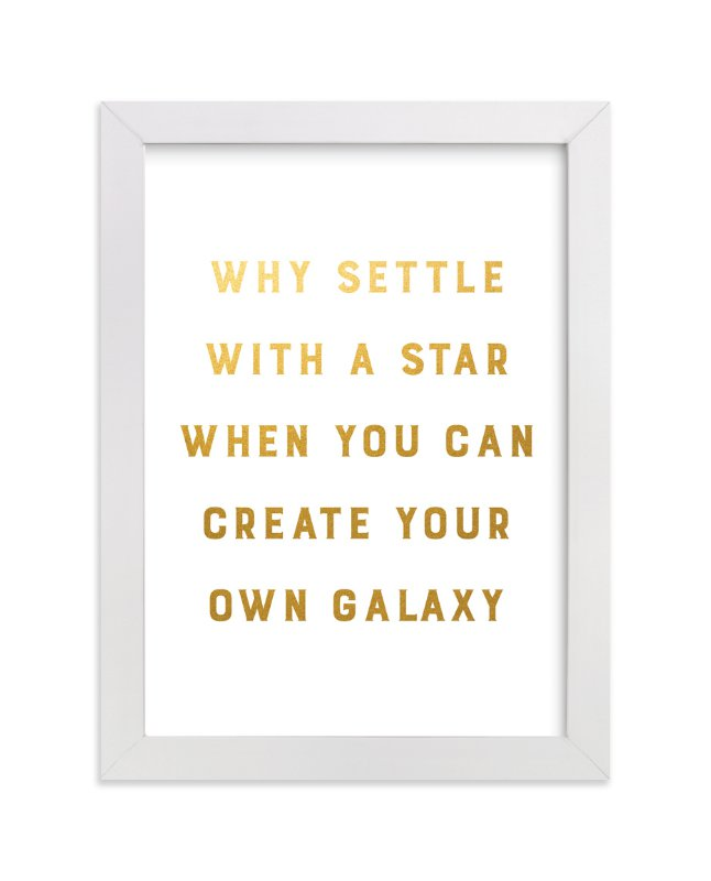 """""""Create Your Own Galaxy"""" - Art Print by Gray Star Design in beautiful frame options and a variety of sizes."""
