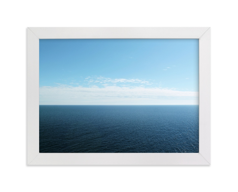 """""""Endless Blue"""" - Art Print by Karen Kaul in beautiful frame options and a variety of sizes."""