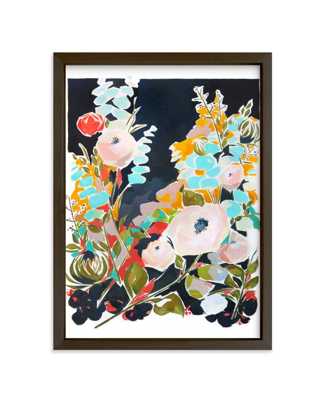 """""""Thrive Floral"""" - Art Print by Jess Franks in beautiful frame options and a variety of sizes."""