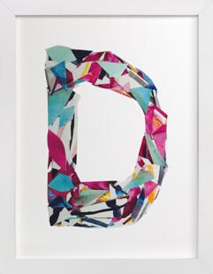 Collage letter D  Art Print