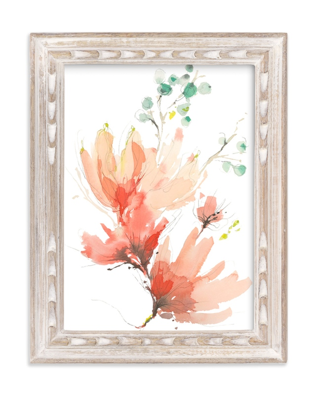 """Blush Blossoms"" - Art Print by Kelly Ventura in beautiful frame options and a variety of sizes."