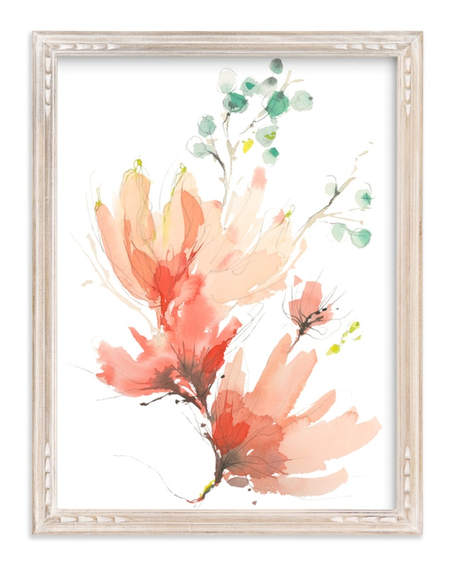 """""""Blush Blossoms"""" - Art Print by Kelly Ventura in beautiful frame options and a variety of sizes."""