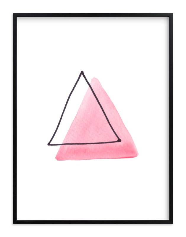 """Pink Ghost"" - Art Print by Vanessa Rossi Design in beautiful frame options and a variety of sizes."