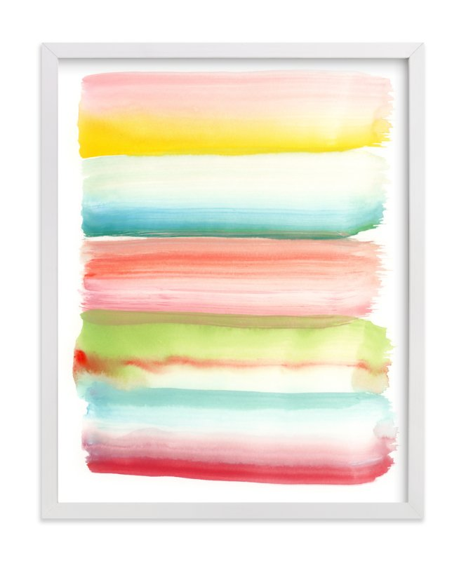 """Popsicle Colors"" - Art Print by Monica Janes Fine Art in beautiful frame options and a variety of sizes."