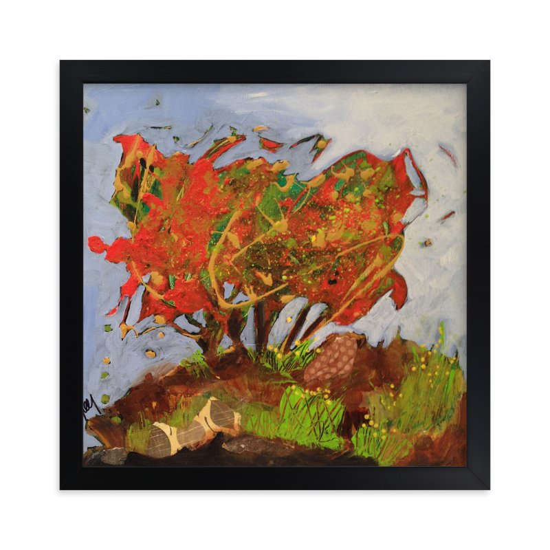 """""""Petite foret orange"""" - Art Print by Johanne Roy in beautiful frame options and a variety of sizes."""