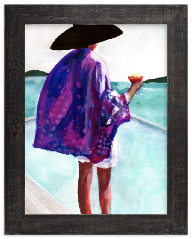 """Purple Kimono"" - Art Print by Jenny Partrite in beautiful frame options and a variety of sizes."