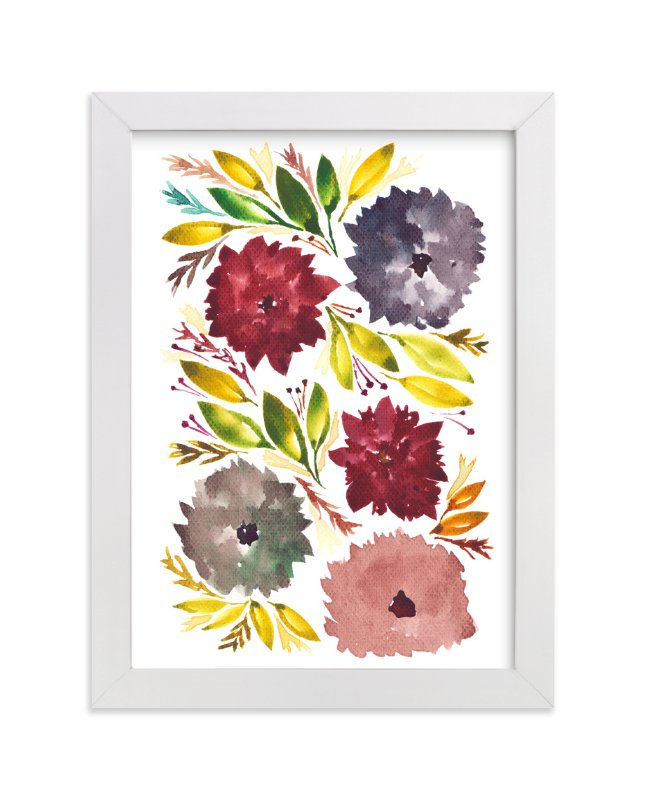 """""""hand painted flowers_1F"""" - Art Print by aticnomar in beautiful frame options and a variety of sizes."""