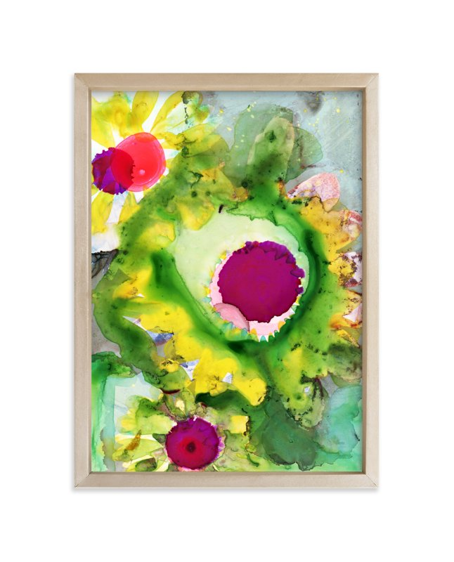 """Abstract Daisy"" - Art Print by Anna Marie Farmer in beautiful frame options and a variety of sizes."