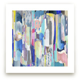 Abstract multicolour brushed painting