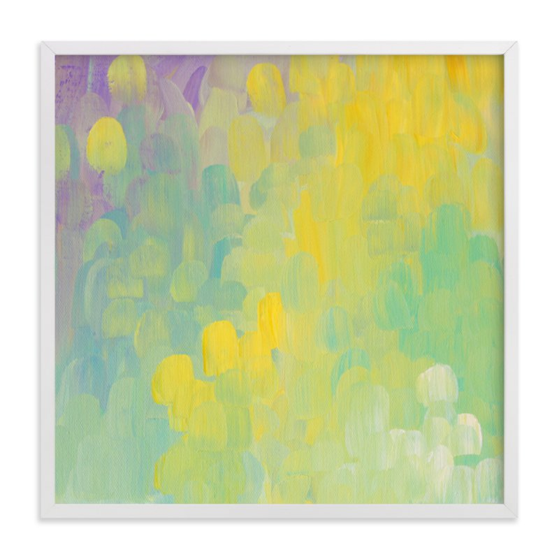 """""""Dandelions and Lavendar"""" - Art Print by Kim Johnson in beautiful frame options and a variety of sizes."""