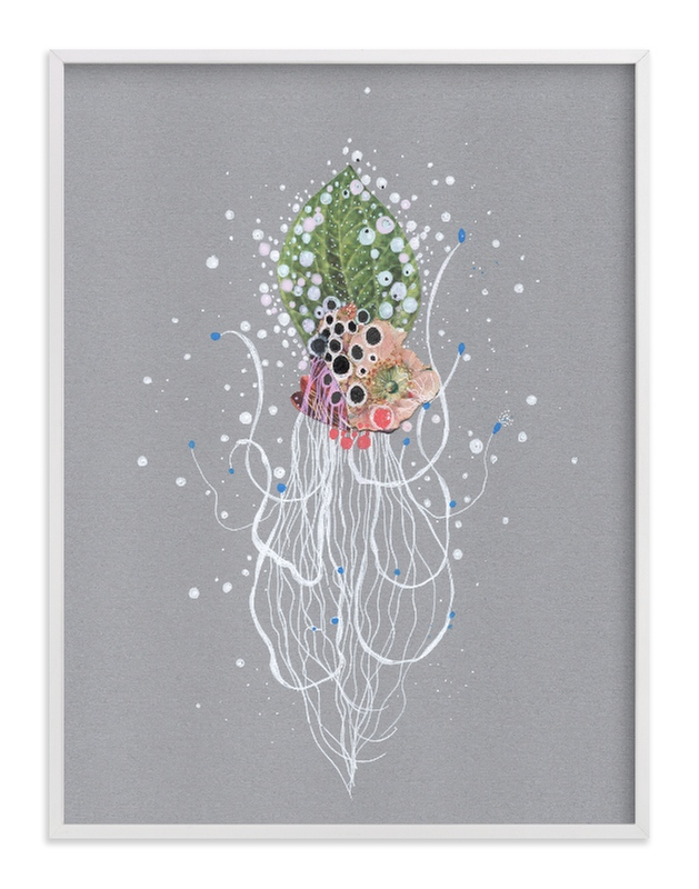 """Emerald Hair Cephalopod"" - Art Print by Jenny Brown in beautiful frame options and a variety of sizes."